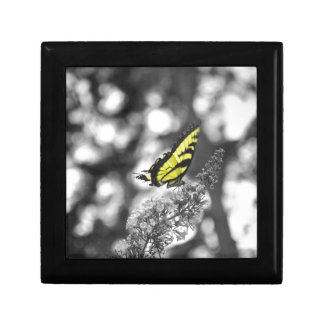 Yellow Butterfly Jewelry Boxes