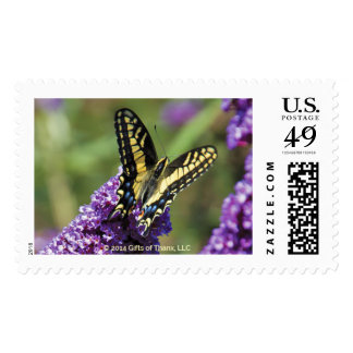 Yellow Butterfly I - 20 Postage Stamps