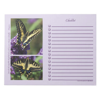 Yellow Butterfly I & II - LARGE Notepad
