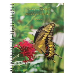 Yellow Butterfly III - Spiral Notebook