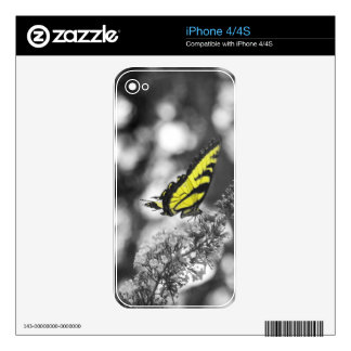 Yellow Butterfly iPhone 4S Skin
