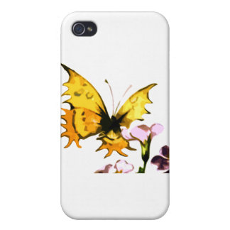 Yellow Butterfly iPhone 4 Covers