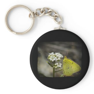 Yellow Butterfly Key Chain