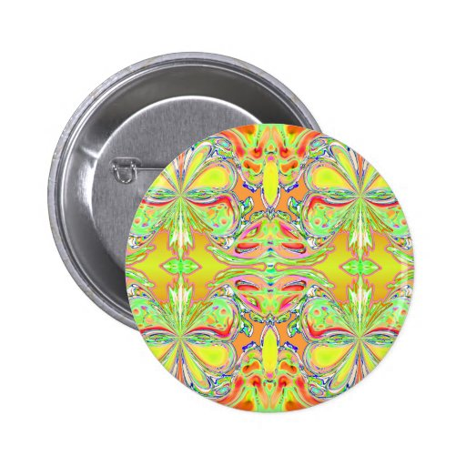 """""""Yellow Butterfly Mandala"""" Button"""