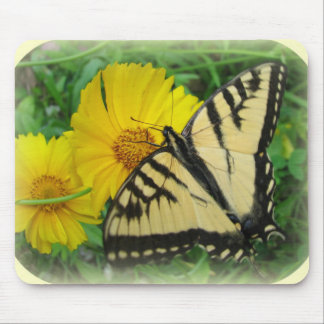 Yellow Butterfly Mouse Pad