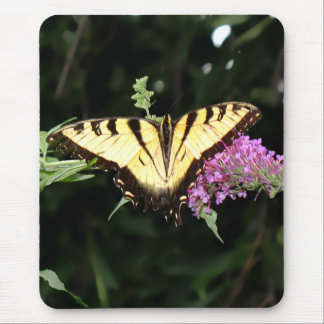Yellow Butterfly Mouse Pad (Vertical)
