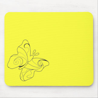 Yellow Butterfly Mousepad