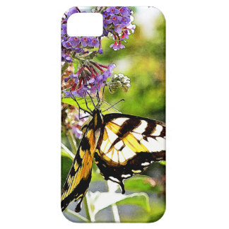 Yellow Butterfly on Lavender Butterfly Bush iPhone SE/5/5s Case