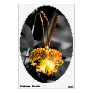 Yellow Butterfly Orchid Wall Skin