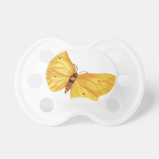 yellow butterfly baby pacifier