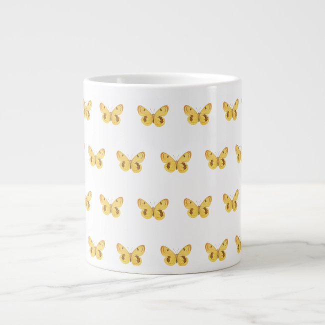 Yellow Butterfly Pattern - Mug