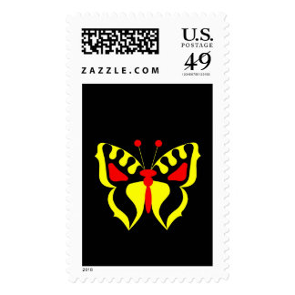 Yellow Butterfly Postage