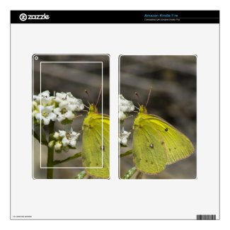 Yellow Butterfly Skins For Kindle Fire