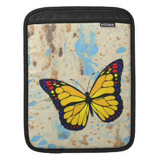 Yellow butterfly sleeve for iPads