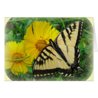 Yellow Butterfly Stationery Note Card