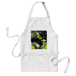 Yellow Butterfly Upclose Adult Apron