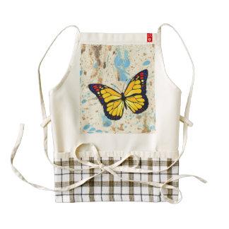 Yellow butterfly zazzle HEART apron