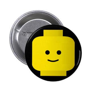 Yellow 2 Inch Round Button