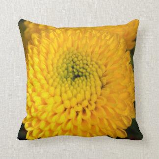 Yellow Button Pillow