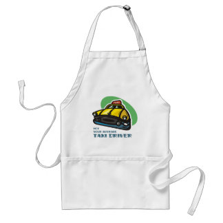 Yellow cab cartoon: Not your average taxi driver Adult Apron