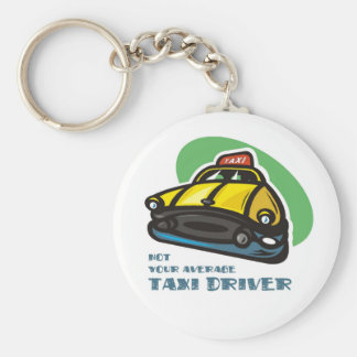 Yellow cab cartoon: Not your average taxi driver Keychain