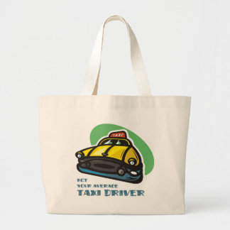 Yellow cab cartoon: Not your average taxi driver Large Tote Bag