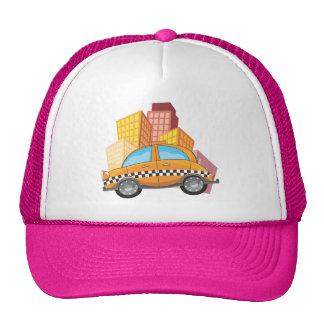 yellow+cab,cartoon+taxi,new+york+cab,taxis,cartoon hat