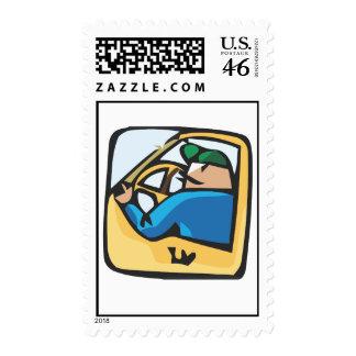 Yellow cab driver postage
