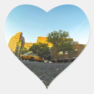 Yellow Cab in New York Heart Sticker
