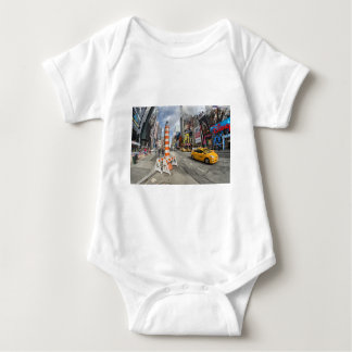 Yellow cab in NYC Baby Bodysuit