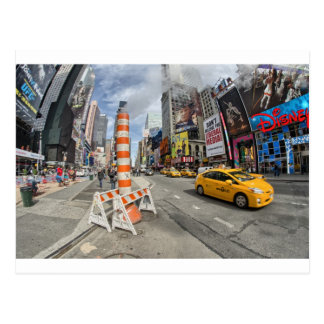 Yellow cab in NYC Postcard