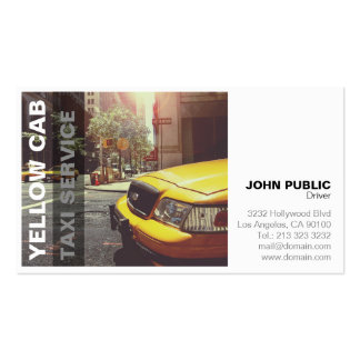 Yellow Cab Taxi Service Bold Modern Business Card