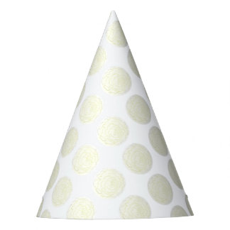 Yellow Cabbage Rose Party Hat