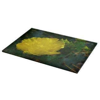 Yellow Cactus Bloom No2 Cutting Board