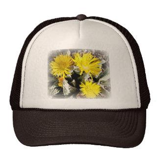 Yellow Cactus Blooming Flowers Trucker Hat