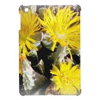 Yellow Cactus Blooming Flowers iPad Mini Cases