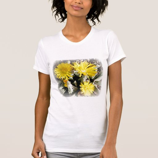 Yellow Cactus Blooming Flowers T-Shirt