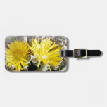 Yellow Cactus Blooming Flowers Tag For Bags