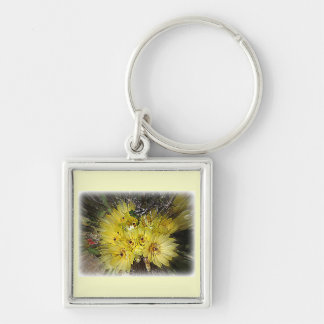 Yellow Cactus Blooms Key Chains