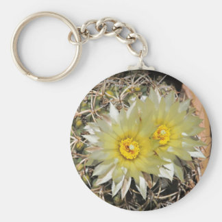 Yellow Cactus Blooms Keychains