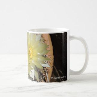 Yellow Cactus Blooms Classic White Coffee Mug