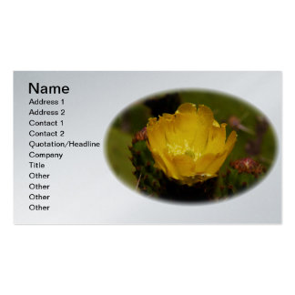 Yellow Cactus Desert Flower Cusco Peru Double-Sided Standard Business Cards (Pack Of 100)