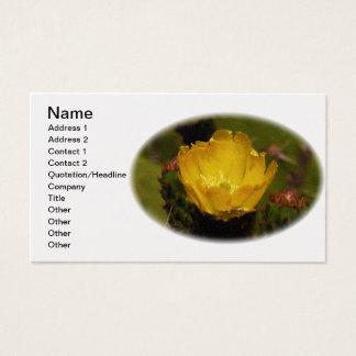 Yellow Cactus Desert Flower Cusco Peru Business Card