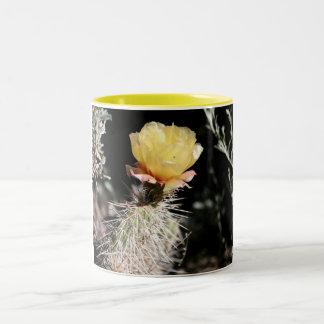 Yellow Cactus flower and Sagebrush Two-Tone Coffee Mug