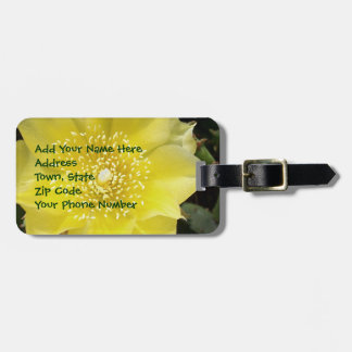 Yellow Cactus Flower Tag For Luggage