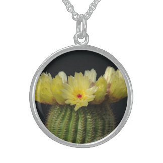 Yellow Cactus Flower Personalized Necklace