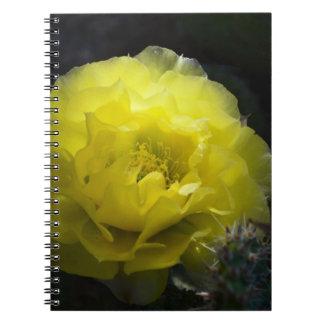 Yellow Cactus Flower Notebook