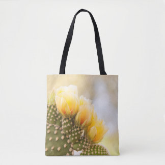 yellow cactus flowers as they bloom in Arizona Tote Bag