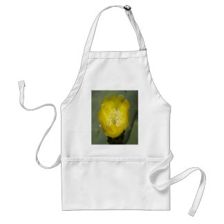 Yellow Cactus Pear Flower Adult Apron