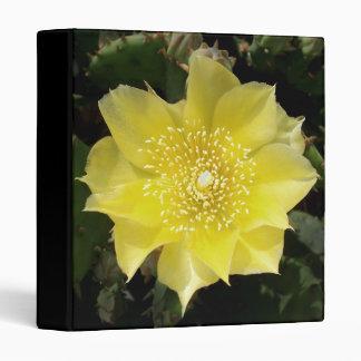 Yellow Cactus Prickly Pear Flower Binder